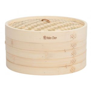 Helen's Asian Kitchen Bamboo Steamer with Lid 12""