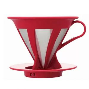 Hario Cafeor Dripper Coffee Cone, Size 2 Red
