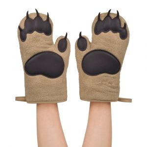 Bear Hands Grizzly Cotton Oven Mitts