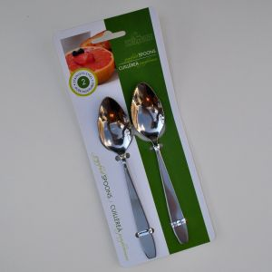Stainless Grapefruit Spoons, Set of 2