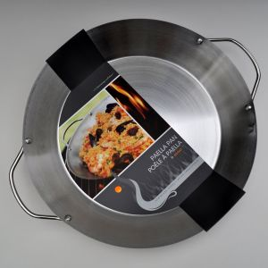Stainless Steel Paella Pan 14-Inch