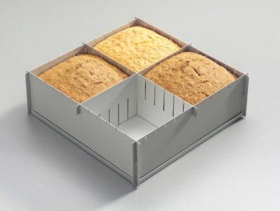 Silverwood Multisize Cake Pan, 12 x 12 x 4 in. with Dividers