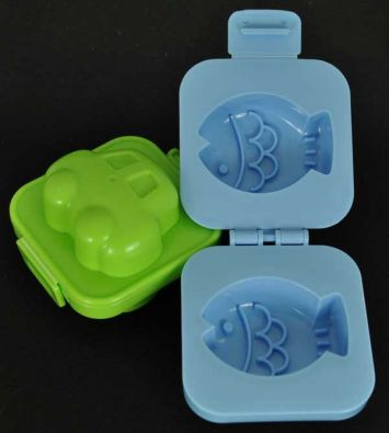 Kokubo Egg Shapers, Fish and Car