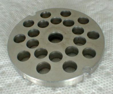 Tre Spade Meat Grinder Plate for #8 Grinder, 8 mm holes Stainless Steel