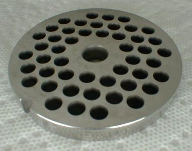 Tre Spade Meat Grinder Plate for #10 Grinder, 6 mm holes Stainless Steel