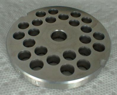 Tre Spade Meat Grinder Plate for #10 Grinder, 8 mm holes Stainless Steel