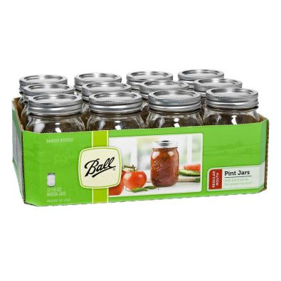 Ball Canning Jars, Reguar Mouth 16oz