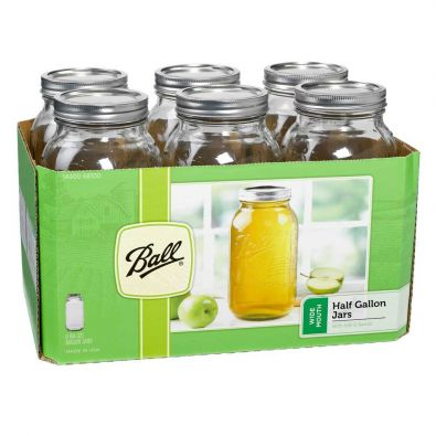 Ball Canning Jars, Wide Mouth 64oz