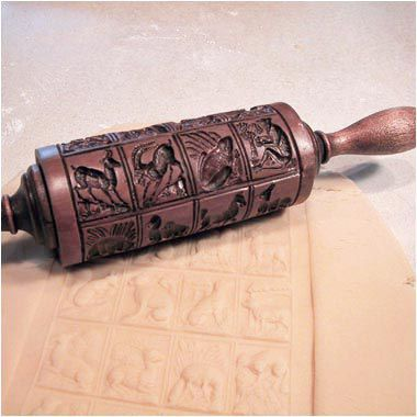 House On The Hill Menagerie Springerle Rolling Pin