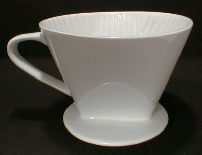 #4 Cone White Porcelain Coffee Filter Holder
