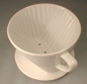 #1 Cone White Porcelain Coffee Filter Holder