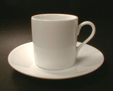 White Porcelain Demitasse, 8 Piece Set