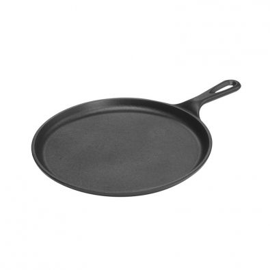Lodge Pre-Seasoned Cast Iron Flat Round Griddle with Handle