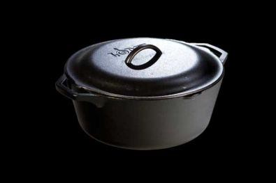 Lodge Pro Logic Seasoned Cast Iron Dutch Oven, 7 Qt