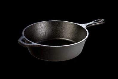 Lodge Logic Pre-Seasoned Cast Iron Deep Skillet, 10.25 in.