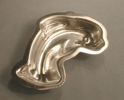 Dolphin Cake Mold, Tin, 5 in.