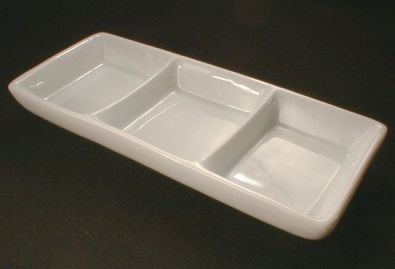 Rectangular Spice Dish, 3 Compartment