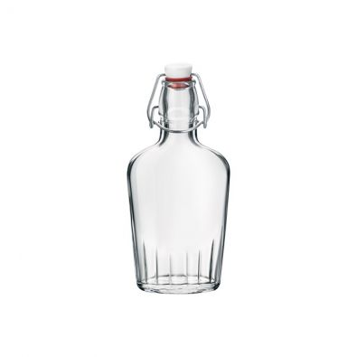 8 oz Fiaschetta Clear Glass Bottle