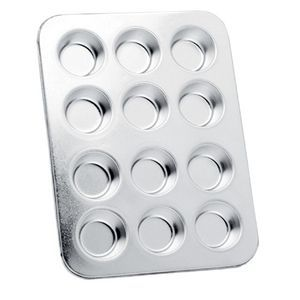 Mini Muffin Pan, Tinned Steel, 12 Cup