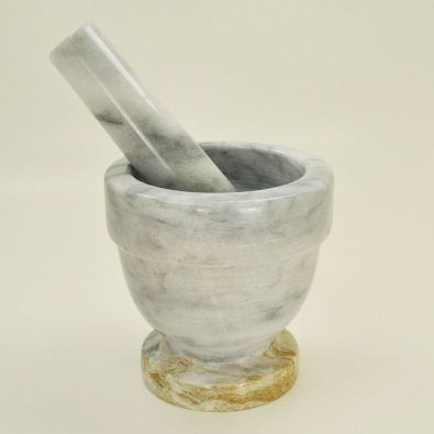 White Marble Mortar and Pestle 4-Inch