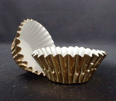 Mini Muffin Baking Cups, Gold