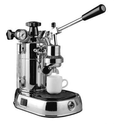 La Pavoni Professional PC-16 Chrome 16-Cup Lever Espresso Machine