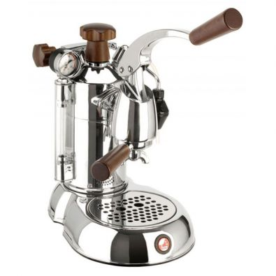 La Pavoni Stradivari Professional PSW-16 Chrome-Wood 16-Cup Espresso Machine