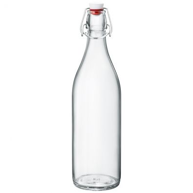 Giara Clear Glass Round Bottle, 1 Liter