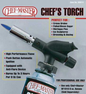Chef Master Professional Chefs Torch For Butane Canister
