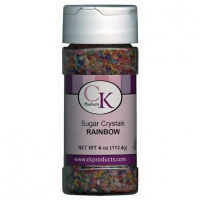 Rainbow Sugar Crystals 4 Oz