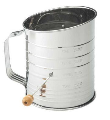 Flour Sifter with Crank, 5 Cup