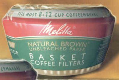 8-12 Cup Basket Melitta Coffee Filter Paper 100-Count Brown