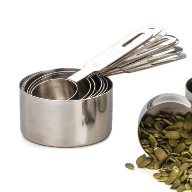 Endurance Heavy Stainless Steel Measuring Cup Set, 5 Piece