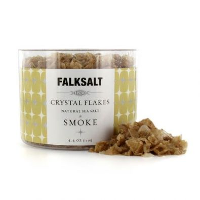 Falksalt Natural Sea Salt Crystal Flakes, Smoke