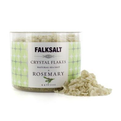 Falksalt Natural Sea Salt Crystal Flakes, Rosemary
