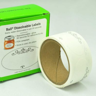 Ball Dissolvable Labels, Roll of 60
