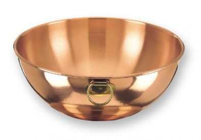 Solid Copper Mixing Bowl, 12 in.