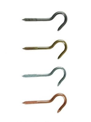 Enclume 3 in. Ceiling Screw Hook, Copper Plated