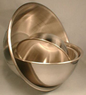 Deep Stainless Steel Mixing Bowl, 3.5 quart