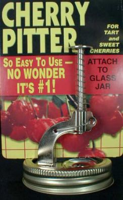 Push Button Jar-Top Cherry Pitter