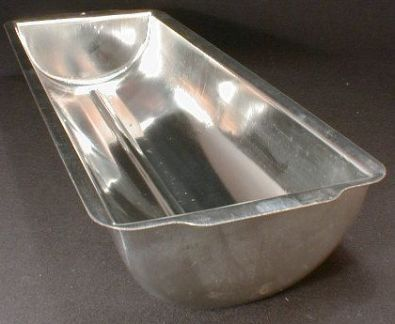 Rounded Bottom Loaf Pan, Tinned Steel, 12 in.
