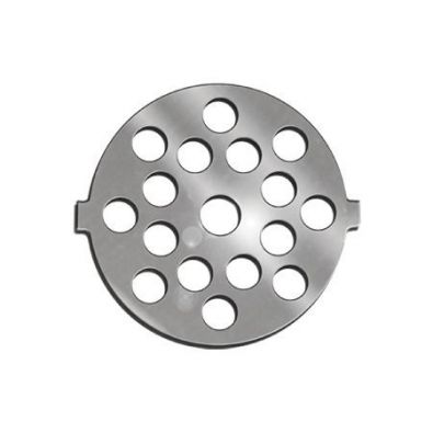 Meat Grinder Plate for #5 Grinder, 7 mm holes Stainless Steel