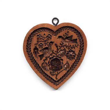 House On The Hill Heart and Rose Springerle Mold