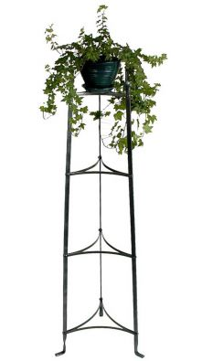 4-Tier Cookware and Plant Stand, Hammered Steel