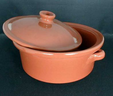 Spanish Terracotta Casserole, 8.4 in.