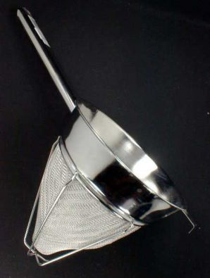 Fine Mesh Stainless Chinois Strainer, 8 in.