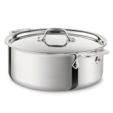 All-Clad Stainless Steel Stock Pot With Lid 6-Quart