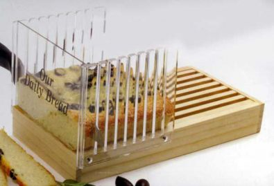 Acrylic Bread Slicing Guide With Crumb Catcher Board
