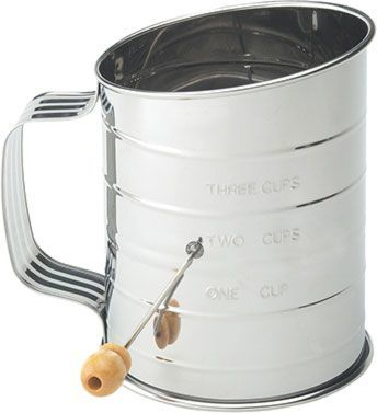 Flour Sifter with Crank, 3 Cup