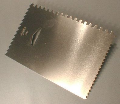 Rectangular Metal Smoother and Decorating Comb